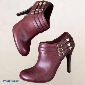 Plum Heeled Booties size 8.5 US from Fioni